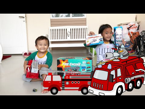 Kenzo Main Mobil Mobilan Pemadam Kebakaran | Fire Engine Truck For Children