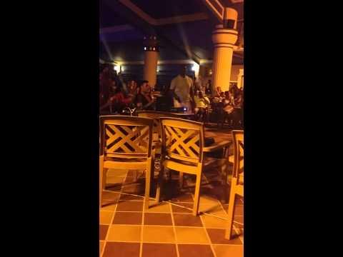 Jamaica 2014- Daddy cracking during Karaoke