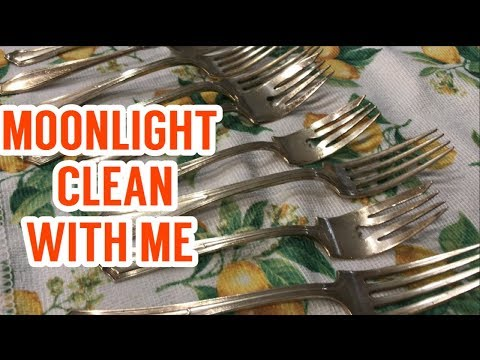 Moonlight Clean With Me Summer 2019 II How to Clean Silverware