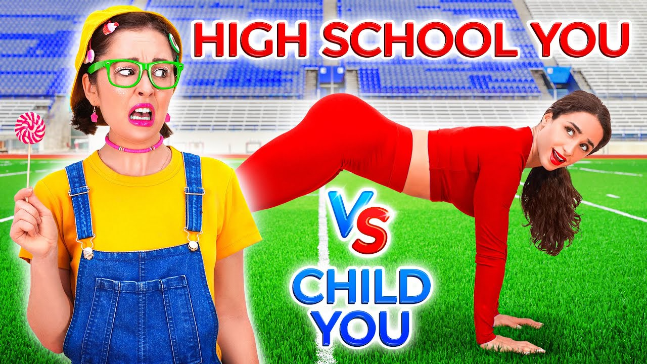 WOW! CHILD YOU VS HIGH SCHOOL YOU || Best Funny Moments by 123 GO!