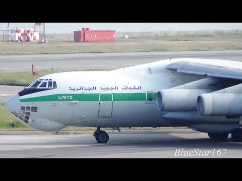 [Great Engine Sound] Algerian Air Force Ilyushin Il-76TD (7T-WIU) takeoff from KIX/RJBB (Kansai) 24L