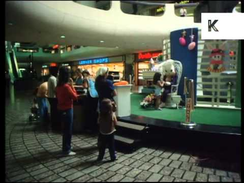 1980s USA Shopping Mall, America Archive Footage