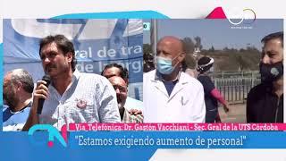 Gastón Vacchiani: Reclamo del personal de salud