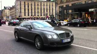 Nice Bentley Continental GT Speed take off in Hamburg