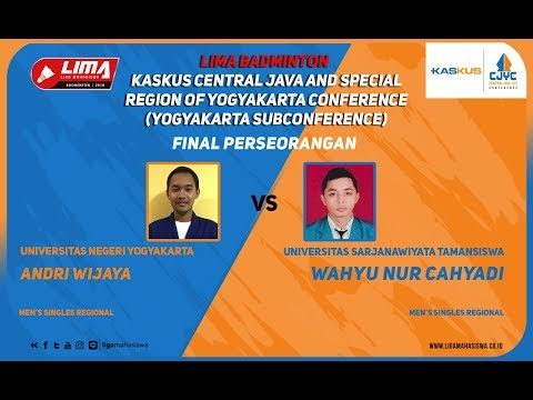 FINAL UNY VS UST  LIMA Badminton: Kaskus Central Java and Yo