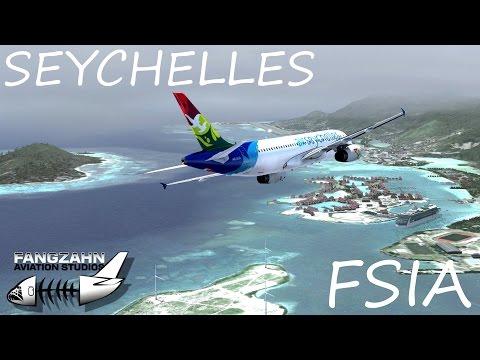 [FSX] A320 Air Seychelles Landing