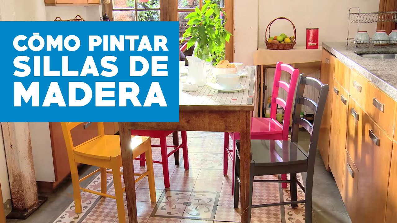C mo pintar sillas de madera viyoutube - Pintar sillas de madera ...