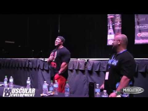 Phil Heath 2013 Seminar Part Three Training, Nutrition & Contest Prep