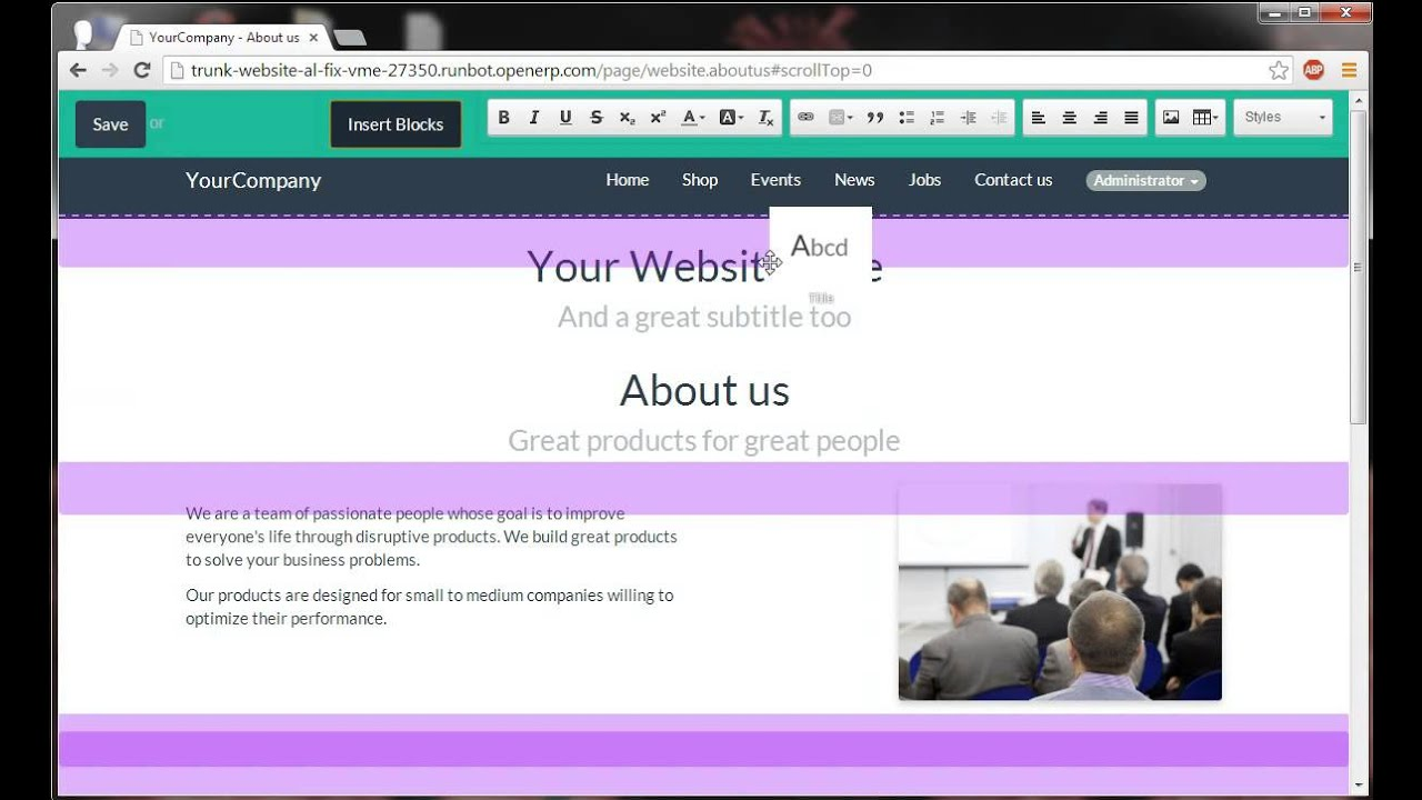 IT IS - Odoo | Event-Modul