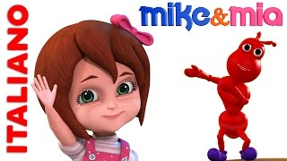 Impara Numeri | Ants Go Marching Italian | Canzoni Per Bimbi | filastrocche per bambini |Mike e Mia