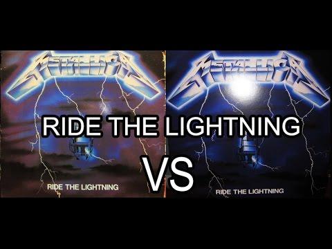 Metallica Ride The Lightning 1984 Vinyl Vs 2016