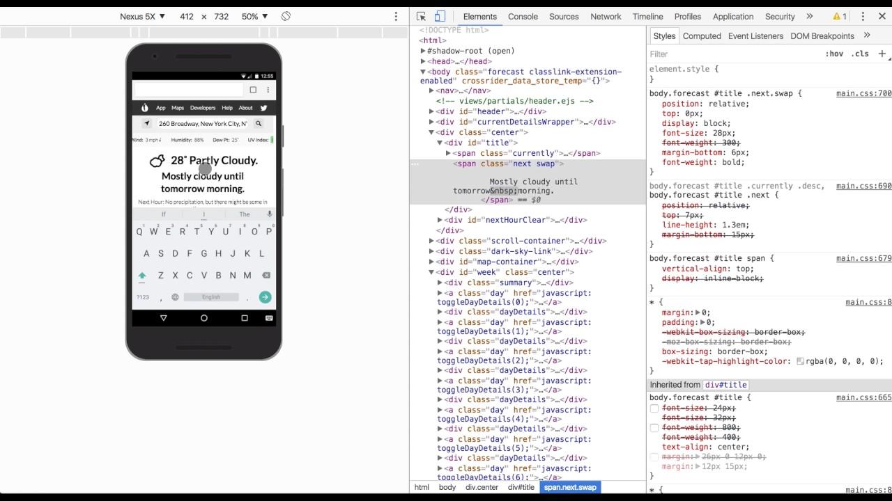 Using Chrome Devtools Device Mode Youtube