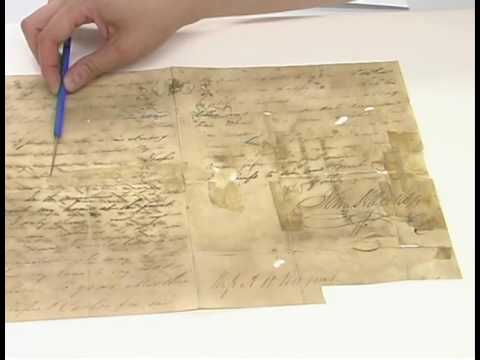 Sam Houston Letter Conservation Documentary Part 1