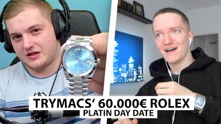 Justin reagiert auf Platin Rolex von Trymacs.. | Reaktion