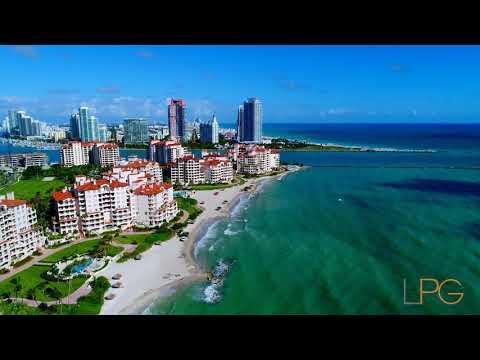 Fisher Island Aerial Tour Miami Beach, FL -- Lifestyle Production Group