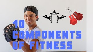 10 Components of Fitness - Gym Walk Through (examples)
