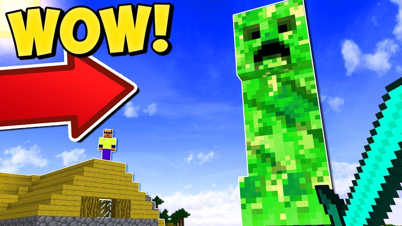 WORLD'S BIGGEST MINECRAFT CREEPER | Minecraft Mods