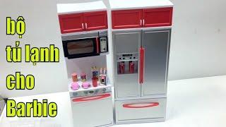 Tủ Lạnh cho búp bê barbie, tủ lạnh 2 ngăn, toy doll 장난감 인형 玩具公仔 おもちゃの人形 игрушка кукла VLOG 18