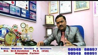 About Ramya Modular Kitchen & Interiors, Interview by an RAJ TV   P - 1
