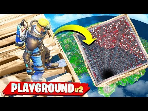 *NEW* DEATH DROPPER GAMEMODE in FORTNITE! (PLAYGROUND MODE V2)
