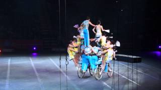 The China National Acrobatic Troupe On Bikes