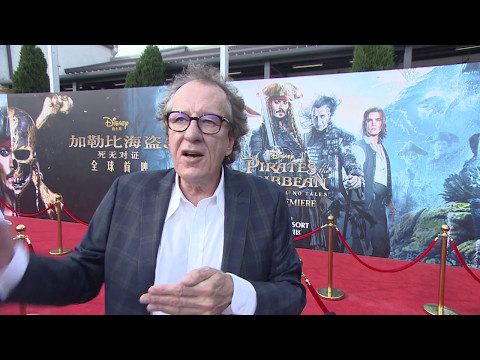 Pirates Of The Caribbean Dead Men Tell No Tales Shanghai Premiere Geoffrey Rush