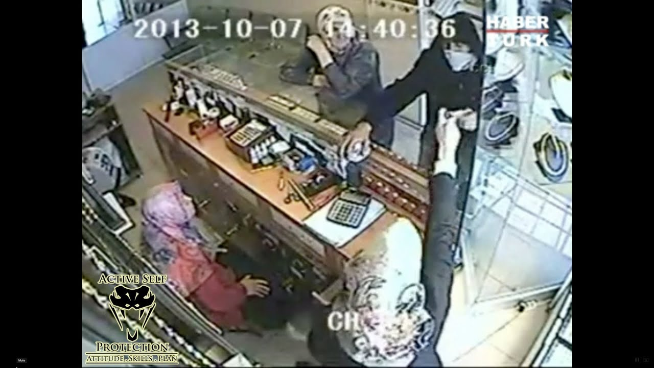 Babushka Gets The Drop On Armed Robber