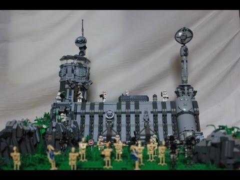 Lego Star Wars Clone Base on Kashyyyk / Dam Base ( HUGE AND DETAILED)
