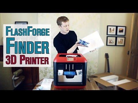 FlashForge Finder 3D Printer: Un-boxing, setup and first print