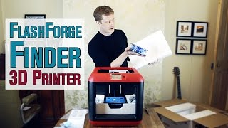 FlashForge Finder 3D Printer: Un-boxing, setup and first print