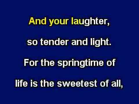 When Irish Eyes Are Smiling, Karaoke video with lyrics, With demo singer