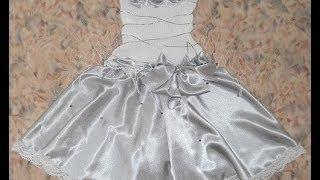 Платье Белоснежка - Crochet dress - 1 часть -  вязание крючком по ткани