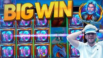 NEW SLOT - RISE OF MERLIN BIG WIN!!