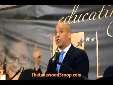 Newark Mayor Cory Booker Keynote Speaker SCHI Dinner Lakewood