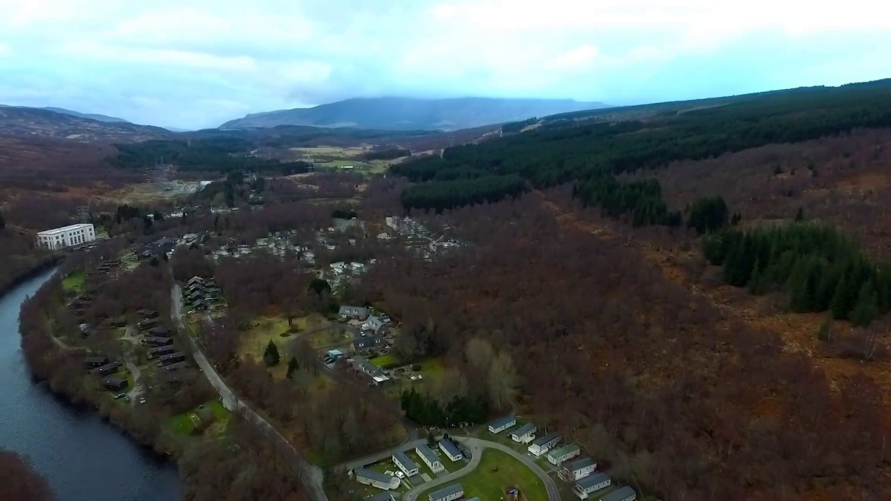 Tummel Valley Holiday Park (Pitlochry) from the air. - YouTube
