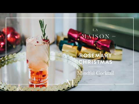 Non-Alcoholic Pomegranate Rosemary Kombucha Mindful Cocktail | La Maison Wellness