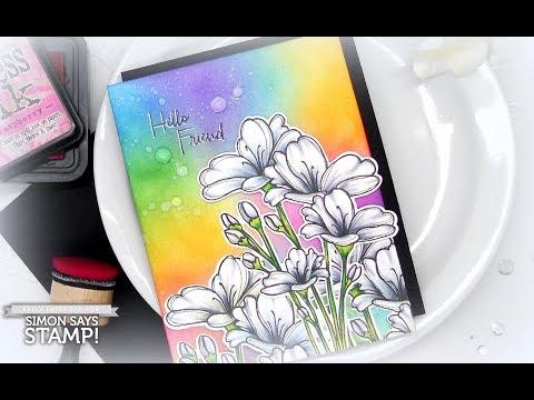 Simon Says Stamp Blog Hop: White Flowers