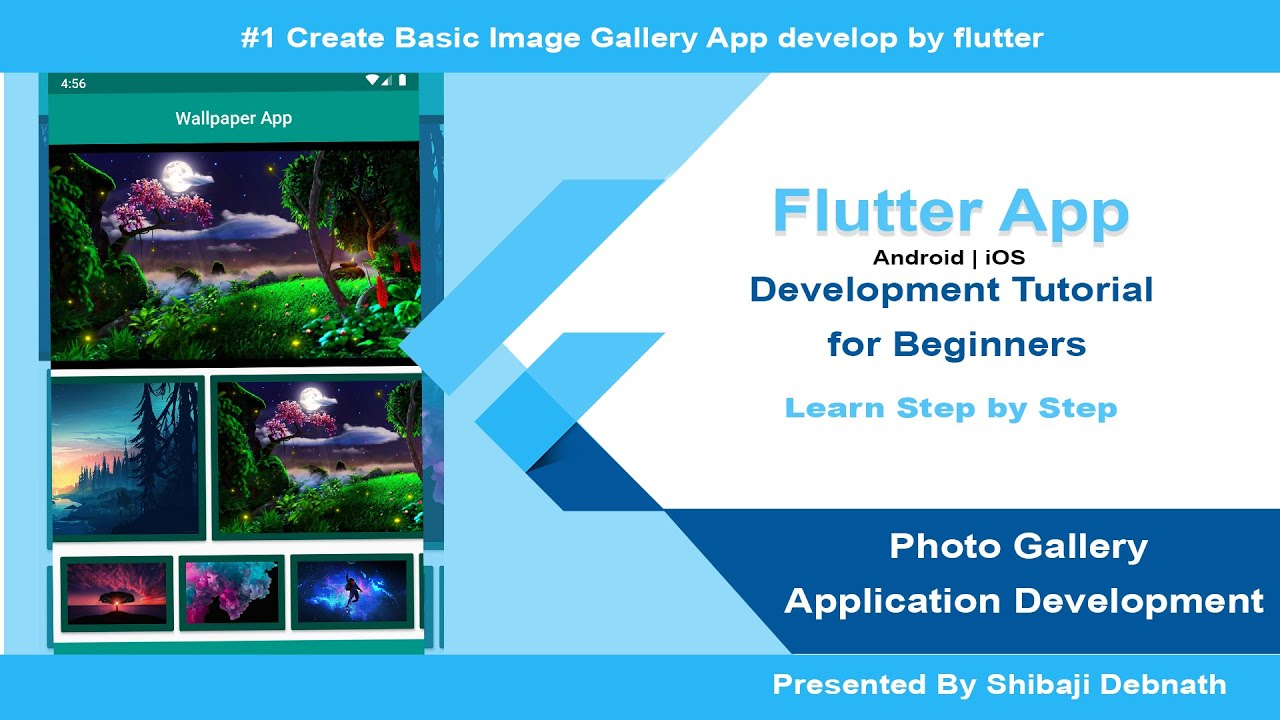 Flutter Photo Gallery App Development Tutorial in Hindi for Beginners in 2020
