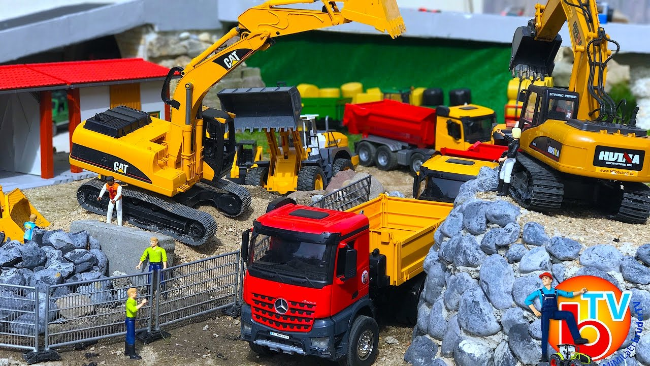 Bruder Construction Toys : Bruder toys construction company 🚜 cat truck 🚛🚚 mercedes