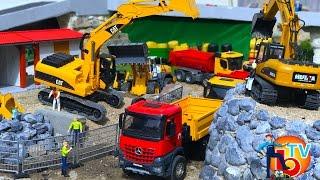 BRUDER TOYS Construction company 🚜 CAT Truck 🚛🚚 Mercedes Benz🚚