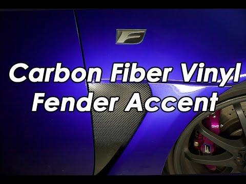 DIY: Carbon Fiber Vinyl Fender Accent