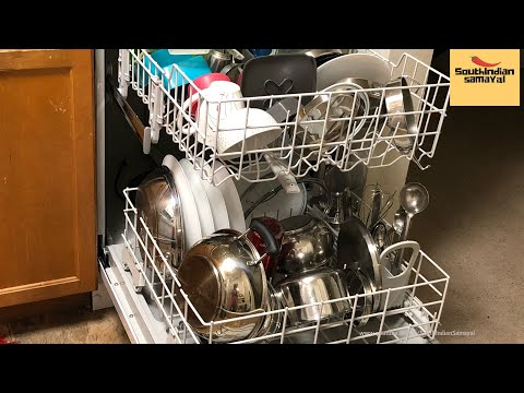 Dishwasher usage in Indian Kitchen | டிஷ் வாசர் பயன்பாடு | How to use dishwasher in Tamil
