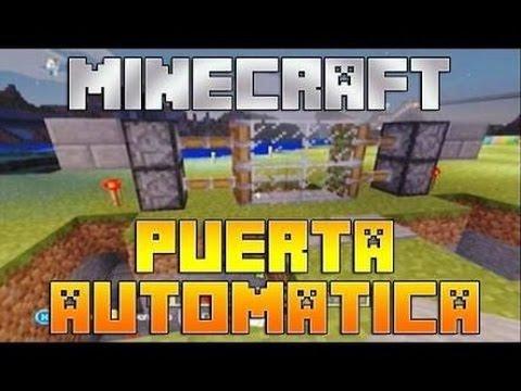 Como Hacer Una Puerta Automática En Minecraft PE 0.16.0   [Mecanismos De Redstone] Decoraciones MCPE