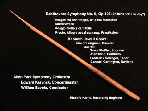 Beethoven Sym  No 9: 4th mov't, Allegro assai vivace (alla marcia), Andante maestoso, Prestissimo