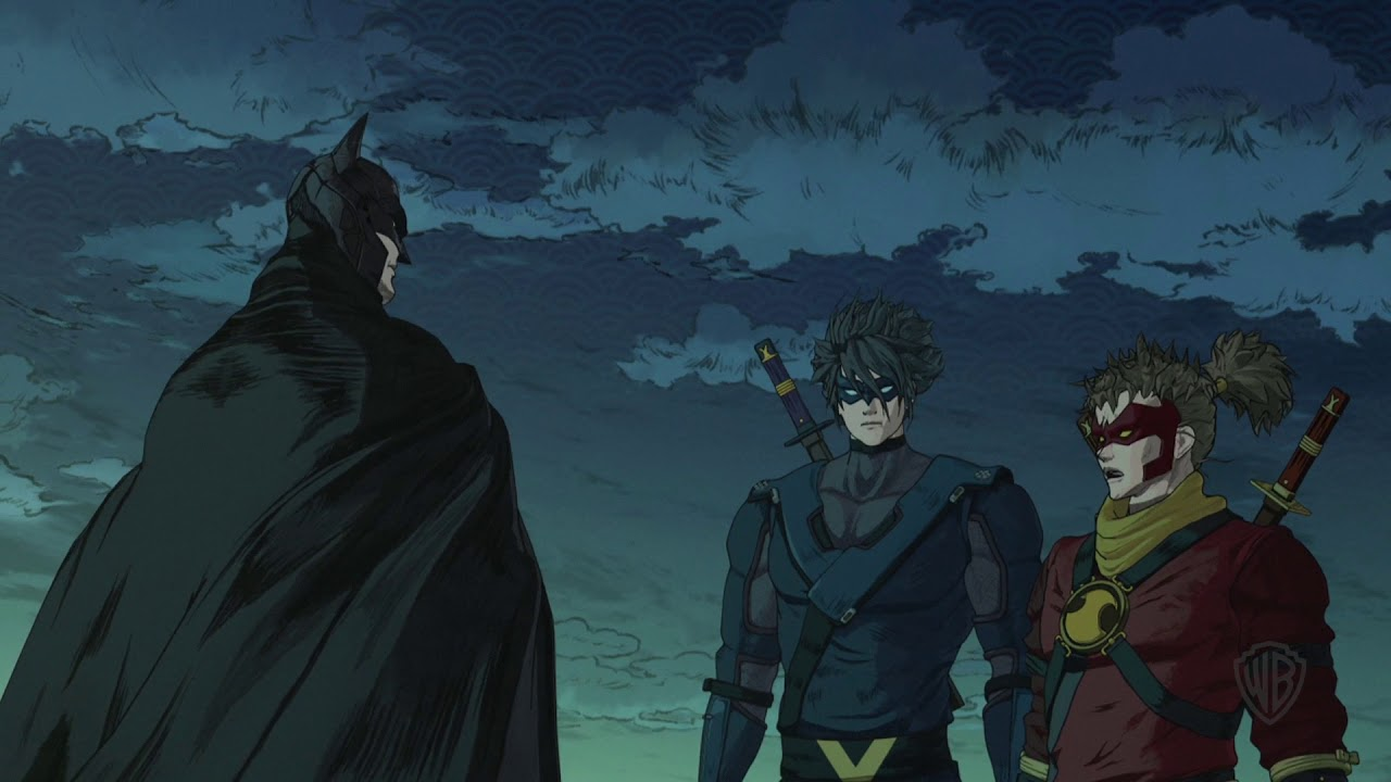 Batman Ninja Clip Batman Greets His Team And Learns Of A Bat Ninja Clan Youtube