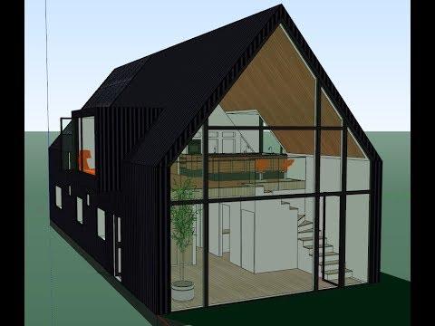 desain rumah mezzanine minimalis ukuran 7x18m optimal di