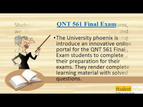QNT 561 Final Exam QNT 561 Final Exam Answers
