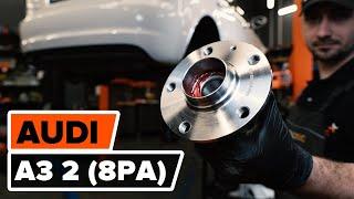 Монтаж на задна лява дясна Колесен лагер на AUDI A3 Sportback (8PA): безплатно видео