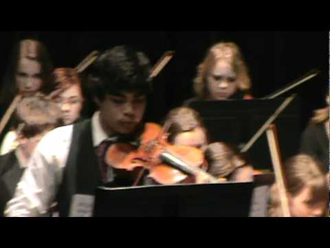 J. Rafael Malang Play Czardas- Monti with the Pinckney Highschool Orchestra 2012