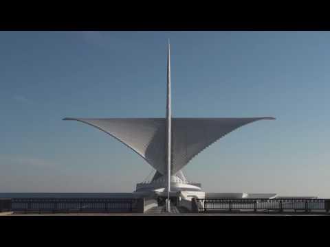 Time Lapse: Milwaukee Art Museum Calatrava Burke Brise